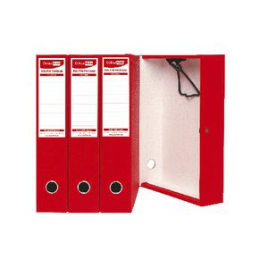 ColourHide Foolscap Box File Red 4 Pack