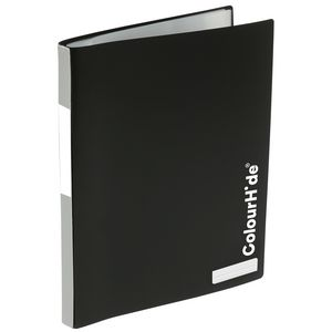 ColourHide My Refillable Display Book A4 20 Pocket Black