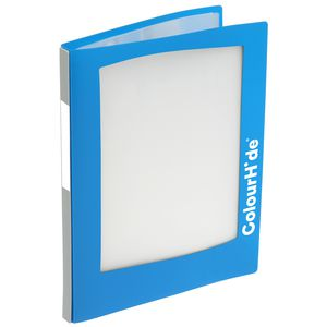 ColourHide A4 Insert Display Book 20 Pocket Refillable Blue