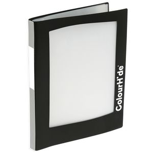 ColourHide A4 Insert Display Book 20 Pocket Refillable Black
