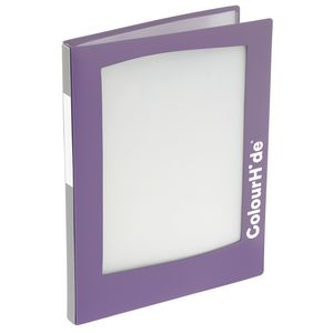 ColourHide A4 Insert Display Book 20 Pocket Refillable Purple
