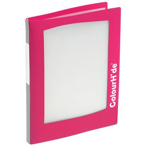 ColourHide A4 Insert Display Book 20 Pocket Refillable Pink