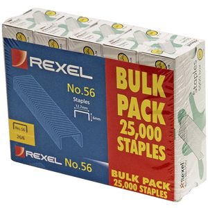 Rexel No.56 (26/6) Staples, 2500 Pack