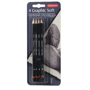 Derwent Graphic Soft Pencils 4 Pack