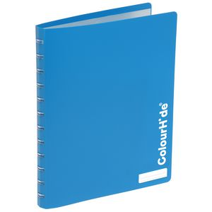 ColourHide Display Book A4 20 Pocket Refillable Heavy Blue