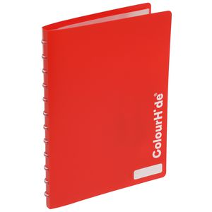 ColourHide Display Book A4 20 Pocket Refillable Heavy Red
