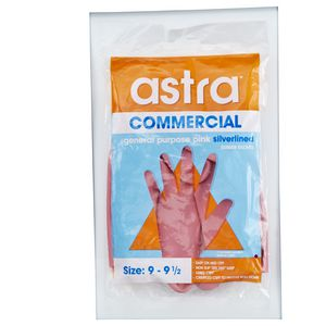 Astra General Purpose Silver Lined Rubber Gloves Size 9- 9.5 (L)