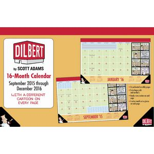 2016 16 Month Desk Pad Dilbert
