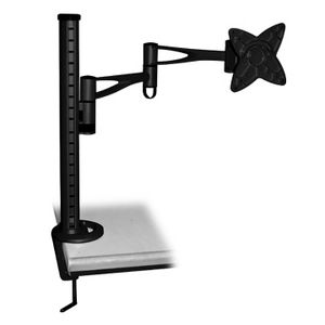 Brateck LCD Monitor Table Stand with Arm and Desk Clamp Black