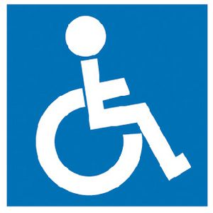 Apli Disabled Self Adhesive Sign