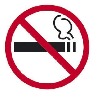 Apli No Smoking Self Adhesive Sign