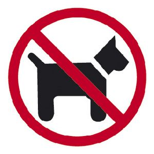 Apli No Pets Self Adhesive Sign
