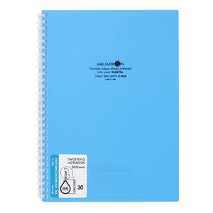 Aqua Drops Twinkle Twist Ring B5 Notebook Blue 30 Page