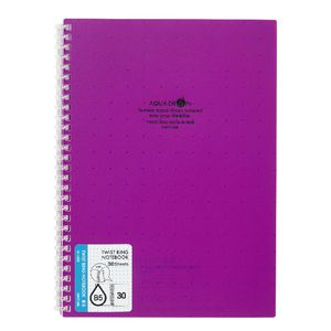 Aqua Drops Twinkle Twist Ring B5 Notebook Purple 30 Page