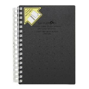 Aqua Drops Twinkle Twist Ring A6 Notebook Black 70 Page
