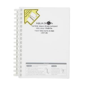 Aqua Drops Twinkle Twist Ring A6 Notebook Clear 70 Page