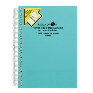 Aqua Drops Twinkle Twist Ring A6 Notebook Green 70 Page