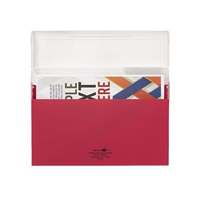 Aqua Drops Document Case A4 Top Open Red