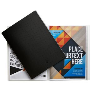 Aqua Drops A4 Display Book 20 Pocket Fixed Black