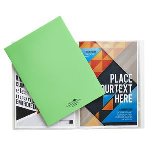 Aqua Drops A4 Display Book 20 Pocket Fixed Lime