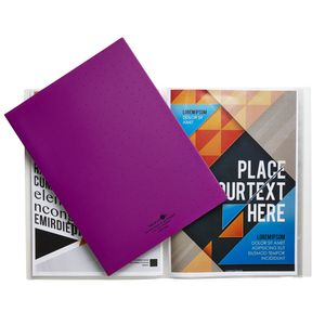 Aqua Drops A4 Display Book 20 Pocket Fixed Purple