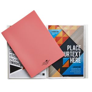 Aqua Drops A4 Display Book 20 Pocket Fixed Pink