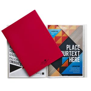 Aqua Drops A4 Display Book 20 Pocket Fixed Red