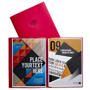 Aqua Drops Pocket File A4 6-Page Open Red