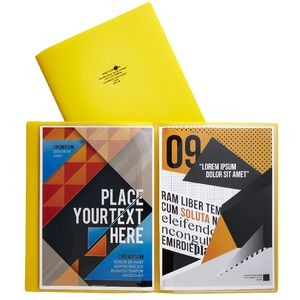 Aqua Drops Pocket File A4 6-Page Open Yellow