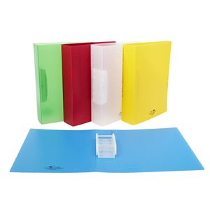 A4 Piperom Doube Sided Opening File Lime Green