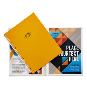 Aqua Drops Refillable Display Book A4 10 Pocket Orange