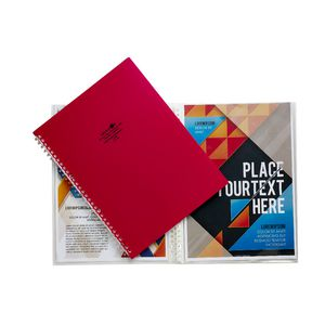 Aqua Drops Refillable Display Book A4 10 Pocket Red