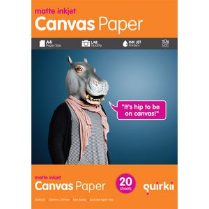 Quirkii A4 Canvas Paper 20 Pack