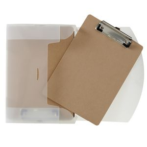 Ausinc Clipboard A5 Masonite with Small Wire Clip 6 Pack