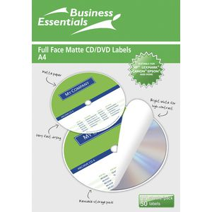 Ausinc CD/DVD Matte Label 50 Pack