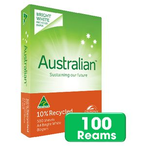 Australian 10% Recycled 80gsm A4 Copy Paper Pallet