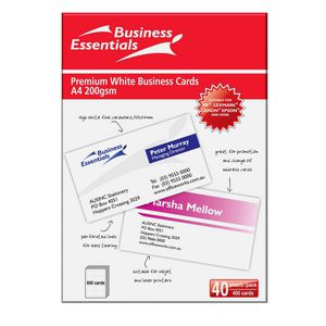 Ausinc Inkjet Business Cards 90 x 55 mm 400 Pack