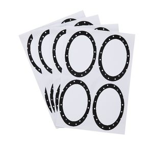 Contemporary Dots Oval Label 42 x 63mm 20 Pack