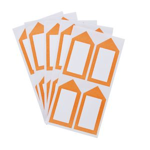 Neon Orange Arrow Label 33 x 67mm 20 Pack