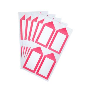 Neon Pink Arrow Label 33 x 67mm 20 Pack
