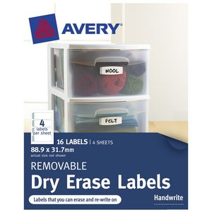 Avery Cottage Collection Dry Erase Labels 16 Pack