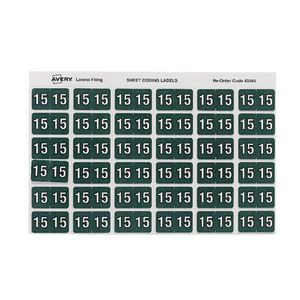 Avery Lateral File Side Tab Label Year 2015 180 Pack