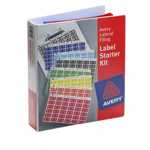 Avery Lateral File Side Tab Label Starter Kit