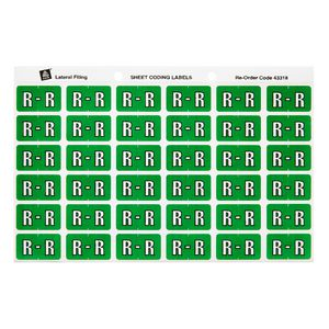 Avery Lateral File Side Tab Label 'R' 180 Pack