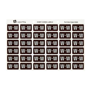 Avery Lateral File Side Tab Label 'W' 180 Pack