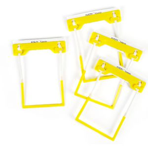 Avery Tubeclip Fastener Yellow 100 Pack