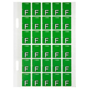 Avery Lateral File Top Tab Label 'F' 150 Pack