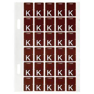 Avery Lateral File Top Tab Label 'K' 150 Pack