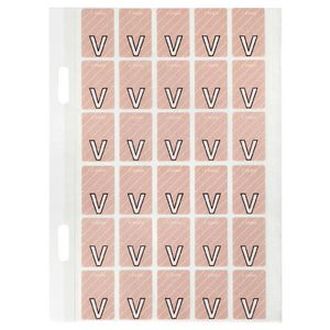 Avery Lateral File Top Tab Label 'V' 150 Pack