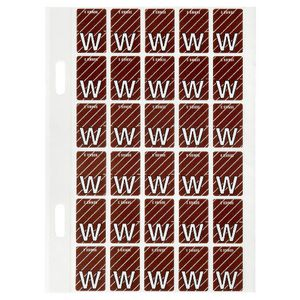 Avery Lateral File Top Tab Label 'W' 150 Pack